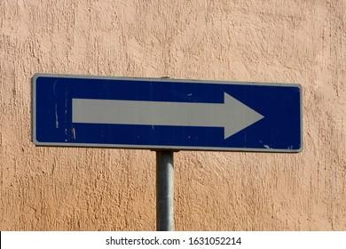 One way sign, Belgrade, Serbia