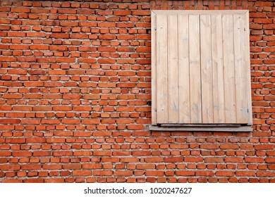 one window on brick wall