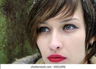 one woman portrait