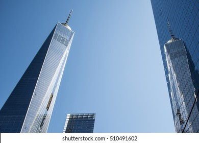One World Trade Center construction in New York City USA Skyline the Big Apple 3