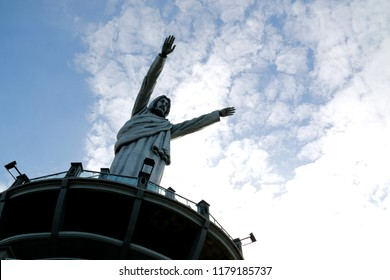 One of the world's tallest Jesus statues in Makale, Toraja, Sulawesi, Indonesia