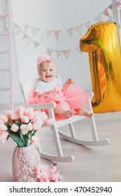 One year baby girl