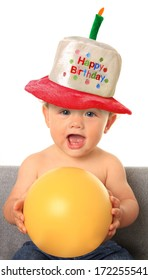 One year old birthday baby boy