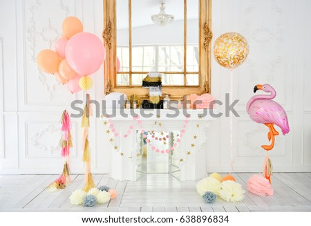One Year Party Decorations Birthday Decoration A Lot Of Balloons