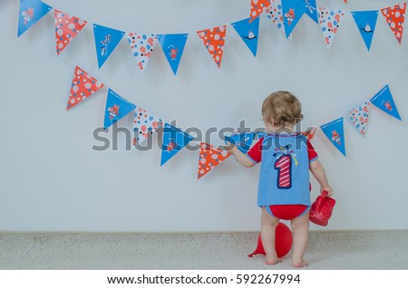 One Year Old Birthday And Decorations