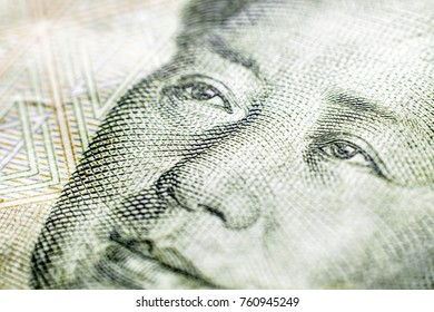 one yuan paper Chinese currency portrait of the chairman