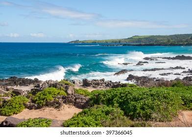 Oneloa Beach, Maui, Hawaii, big waves