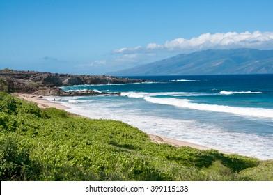 Oneloa Beach, Maui, Hawaii, ocean waves