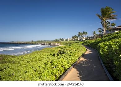 Oneloa or Ironwoods Beach on the west coast of Maui, Hawaii