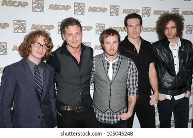 OneRepublic at the 2009 ASCAP Pop Awards. The Renaissance Hollywood Hotel, Hollywood, CA. 04-22-09