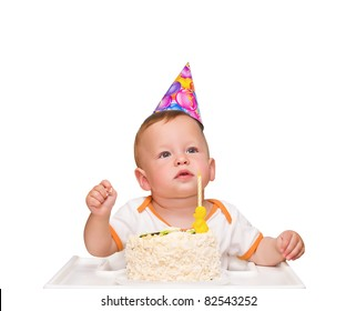 The One Year Old Kid Thinks Of Desire In Birthday