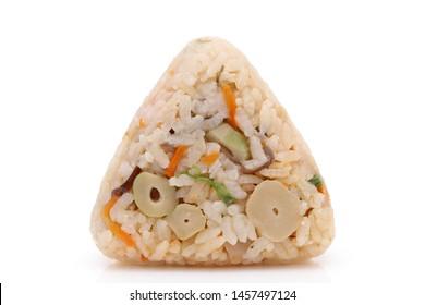 Onigiri, Japanese food, Japanese rice ball, rice triangle with Takikomigohan