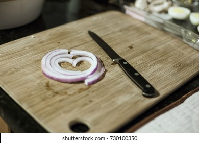 Onion Cut shaped in a heart