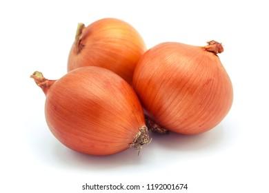 Onion isolated on white background.