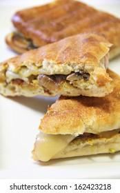 Onion mushroom swiss panini