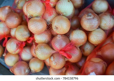 onion pictures in bags, winter onions paintings, onion and vegetables in large nets