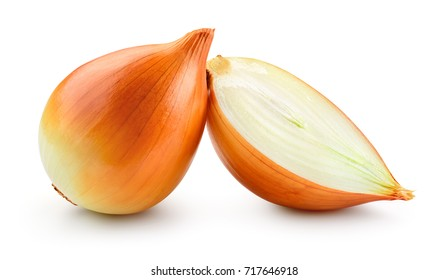 Onion. Onion slice isolated on white. With clipping path.