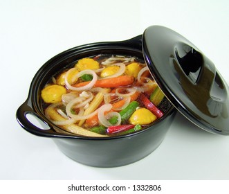 Onion and vegetable soup