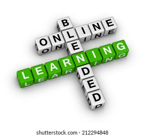 online blended learning crossword puzzle