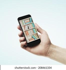 Online book shop concept