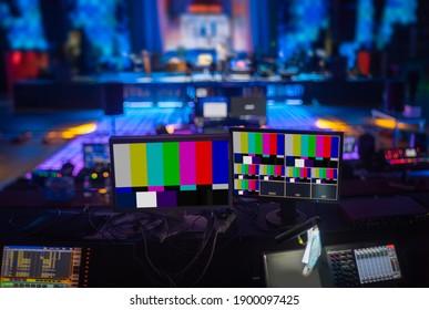 online broadcast of the event.TV studio