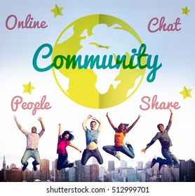 Online Community Global Icon Concept
