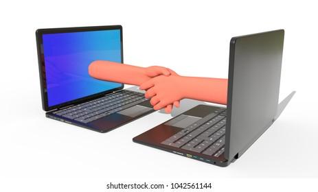 Online deal concept, 3d render