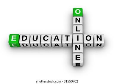 on-line education crossword