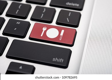 Online food order icon button