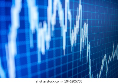 Online forex data. Bitcoin price watch. Shallow DOF. Business to grow in the active high trend and low trend. Stock exchange graph. Data analyzing in forex market: the charts and quotes on display.