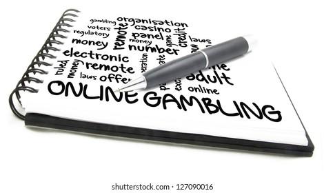 online gambling word cloud