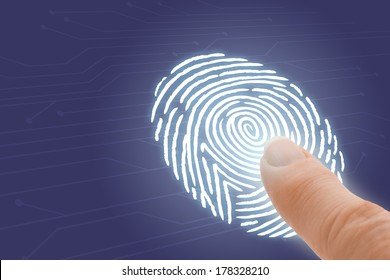 Online Identification and Security with Finger Pointing at Fingerprint