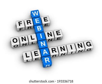 online learning webinar crossword puzzle