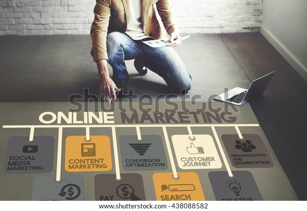 Online Marketing Advertisement Social Media Concept