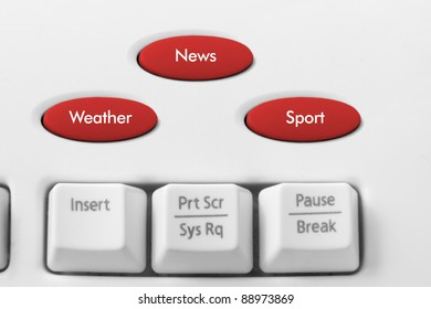 Online News Concept with Keyboard