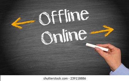 Online and Offline - Business Concept