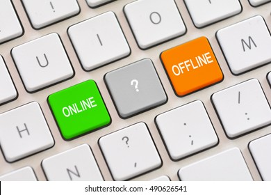 Online or Offline choice on keyboard