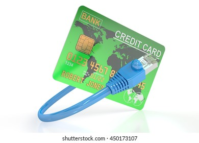 Online payment concept, 3D rendering isolated on white background