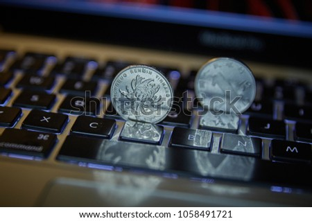 Online Payment Will Replace Cash Transactions Stock Photo (Edit Now