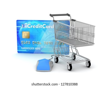 Online payments - e-shopping concept illustration
