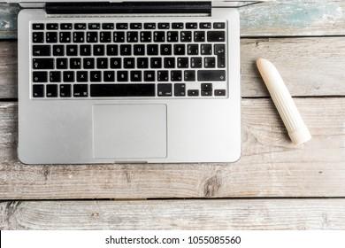 Online pornography, porn addicteed. Internet porn concept. the danger of masturbation