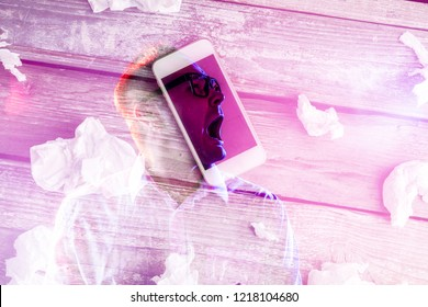 Online pornography, porn addicteed. Internet porn concept