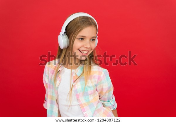 Online Radio Station Channel Girl Child Stock Photo (Edit