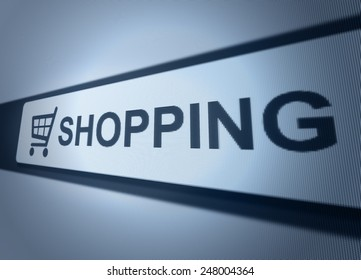 on-line shopping button