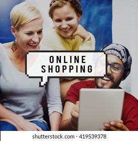 Online Shopping Buying Commerce Retail Web Concept