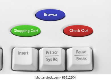 Online Shopping Concept with Keyboard