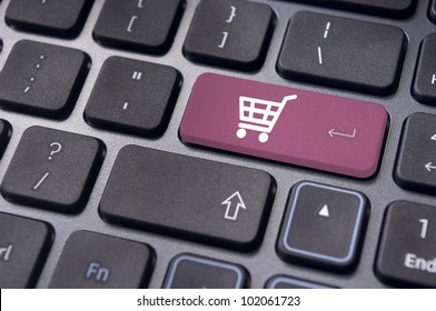online shopping or internet shop concepts, with shopping cart symbol.