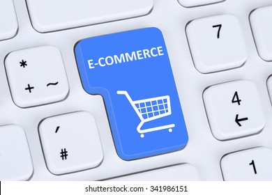 Online shopping order e-commerce internet shop store concept with shopping cart