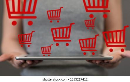 online shopping symbol shop