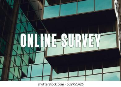 Online Survey, Business Concept
